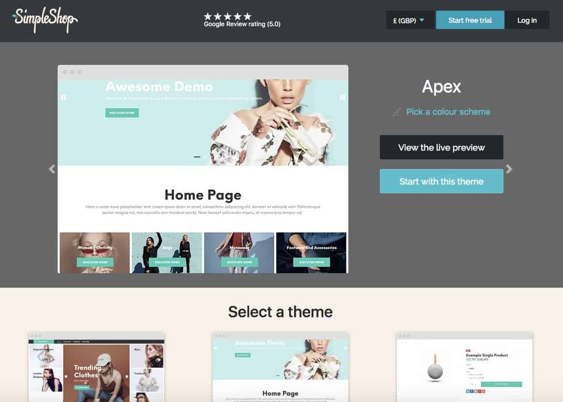set up an online shop with amazing themes