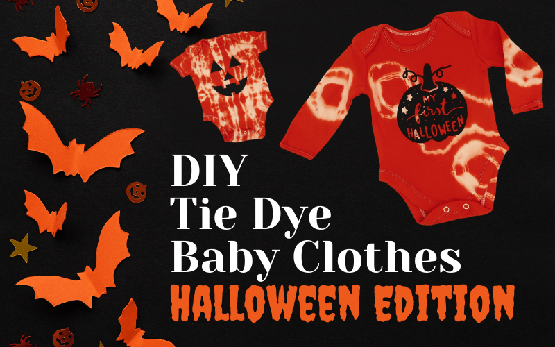 Halloween Tie-Dye Baby Clothes DIY